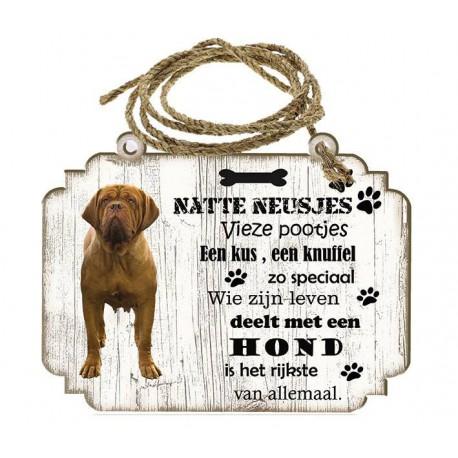 Hondenbordje: Bordeaux Dog
