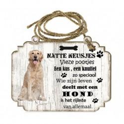 Hondenbordje: Golden Retriever
