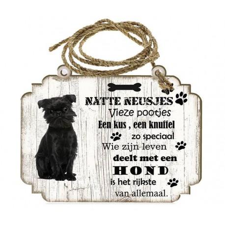 Hondenbordje: Affenpinscher