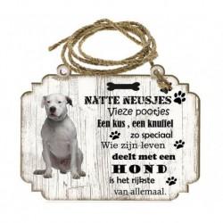 Hondenbordje: Dogo Argentino