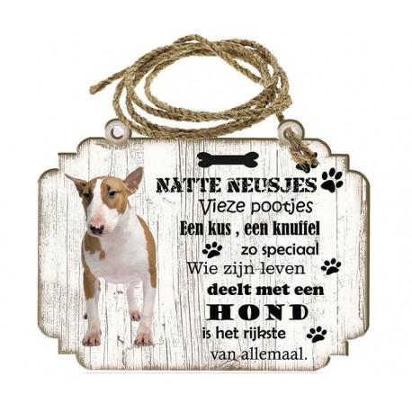 Hondenbordje: Bull Terriër Miniatuur