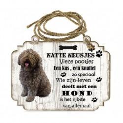 Hondenbordje: Spaanse Waterhond