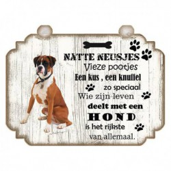 Hondenbordje: Boxer