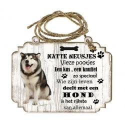 Hondenbordje: Alaska Malamute